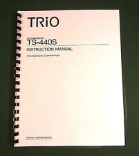 Kenwood TS-440S Instruction Manual - Premium Card Stock Covers & 32 LB Paper!