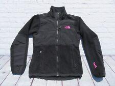 Womens NORTH FACE Black Denali Breast Cancer PINK RIBBON Jacket Sweater XS