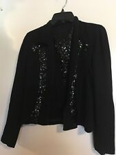 Vintage black top with sequins