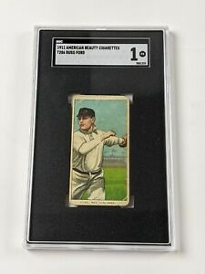 1909-11 American Beauty T206 Russ Ford Baseball Card SGC