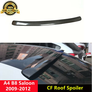 A4 B8 Spoiler Carbon Fiber Roof Wing for Audi B8 Saloon 2009-2012 A Style