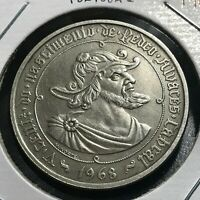 1968 PORTUGAL SILVER 50  ESCUDOS CROWN COIN