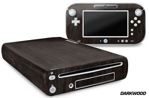 Skin Decal Wrap for Nintendo Wii U Gaming Console & Controller Sticker DARKWOOD
