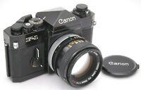 [EXC+5] CANON F-1 Late Model & FD 50mm F/1.4 S.S.C Lens SLR Film Camera Japan