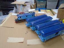 Rare BLUE  McCoy TRAIN LOCO AND 4 PASSENGER CARS