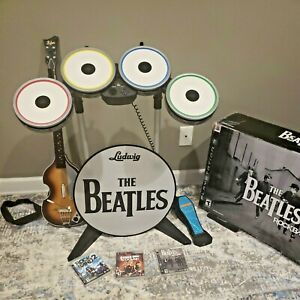 Playstation 3 - The Beatles: RockBand PS3 Drum Set Pedal Guitar 3 Games READ