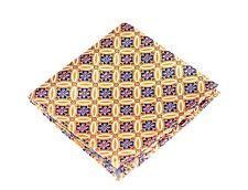Lord R Colton Masterworks Pocket Square - Salvador Amber Silk - $75 Retail New