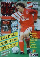 Dynamo Dresden Programm 1996//97 Rot Weiß Erfurt