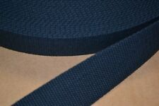 10 Yard Roll 1 1/2 inch Heavy Cotton Webbing Navy Blue Free Shipping!