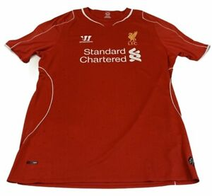 Liverpool Home Football Shirt Jersey 2014 2015 XL Warrior Standard Chartered Red