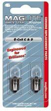 Maglite lampadine di ricambio x torcia elettrica C e D 6-Cell White Star Krypton