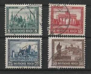 "D.Reich 1930 D.Nothilfe ""Bauwerke"" Satz Mi.Nr.450-453 KBO20411 gestempelt"