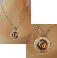Steampunk Necklace Fairy Pendant Jewelry Handmade NEW Cosplay Fashion Chain