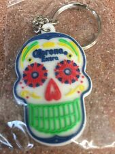 CORONA EXTRA BEER DIA DE LOS MUERTOS DAY OF THE DEAD KEY CHAIN SKULL CARAVELA