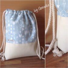 Rucksack # Turnbeutel # Gymbag #  Mint # Pastell, Design ⚓️  by Greedie, Unikat