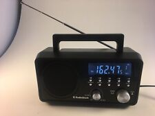 RadioShack Am/Fm/Wx Weather Tabletop Black Radio Corded Battery 1201178 Tested