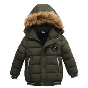 Jungen Mädchen Winterjacke Kinder Mäntel Warm Dicke Oberbekleidung Winddicht
