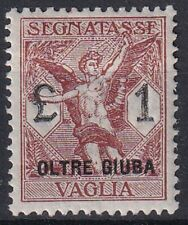 1925 Colonies Beyond Juba TX VAGLIA n.4 EXCELLENT CENTERING NEW VALUE MLH *