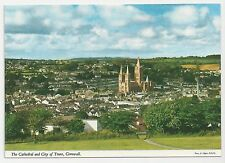 John Hinde Original Postcard, The Cathedral and City of Truro, Cornwall