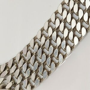 20 inch heavy mens curb necklace chain solid sterling silver hallmarked T85.82.
