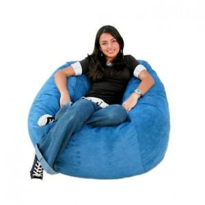 """Holiday special 1 PC 48""""x48""""x27"""" Aqua Blue Velvet Bean Bag Chair Without Beans"""
