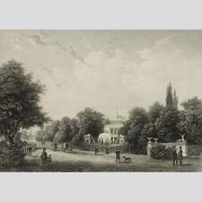 Glienicke bei Potsdam. Stahlstich von Oeder nach Borchel. 1854