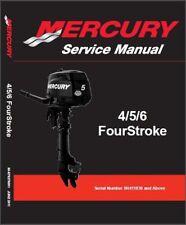 2011-2017 Mercury 4 / 5 / 6 Hp FourStroke Outboard Motors Service Manual on a CD