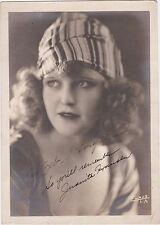RARE 1910s SILENT FILM'S JUANITA HANSEN SIGNED ORIGINAL 5x7 PROMO FAN PHOTO wCOA