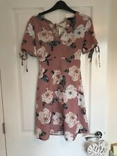 Size 6 Nude Floral Spring/ Summer Dress