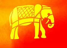 Pochoir Eléphant 15 cm sur 12 cm . plastique réutilisable.