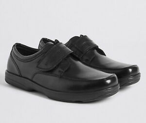Men's M&S 'Air Flex' Black Leather Shoes - Size 9 (U.K.) Wide - New (Other)