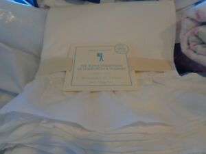 Pottery Barn Kids The Ruffle Collection Sheet Set twin white New with tag