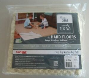 NEW! CONTACT BRAND Eco-Stay 40% Plant Based Non-Slip Rug Pad Fits Rugs Up To 4x6