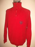 CARLO COLUCCI Sweatshirt vintage pulli rot 90er jahre oldschool Gr.XL