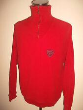 CARLO COLUCCI Sweatshirt vintage pulli rot 90er *sehr selten* Gr.XL