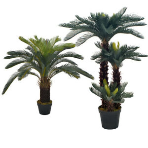 Artificial Plant Cycas Palm Tree Indoor Outdoor Home Decor Leaves Faux Plant