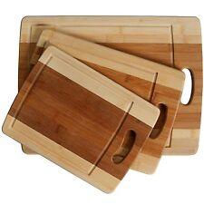 3-piece Cutting Board Set - Organic Bamboo Cutlery Chopping Board Set