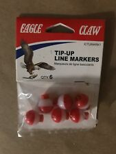 "Qty 2-1/2"" Eagle Claw Tip-Up Line Marker Ictumark1 - 6 per Pack =12 Total"