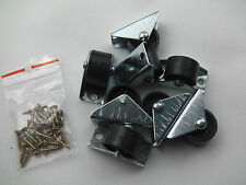 12 x Roulettes Mobilier fixe roues en nylon-tiroir de lit meubles /