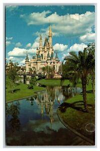 Vintage 1972 Postcard Walt Disney World Cinderella's Castle Orlando Florida