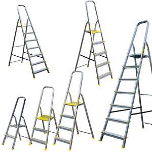 Garage Zuhause zusammenklappbar 4 Stufen-Leiter rutschfest f/ür K/üche robuster Sicherheitsstahl tragbar B/üro