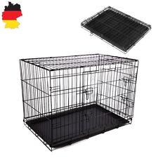 Metall Hundekäfig Transportbox Drahtkäfig faltbar Hunde Käfig M Transportkäfig