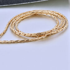 """Fashion Yellow Gold Filled Womens Mens 17.32"""" Snake Chain Necklace"""