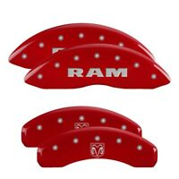 MGP 4 CALIPER COVERS Red for 2006-2010 Dodge Ram 1500 12043SRMHRD