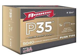Arrow 354 Genuine P35 1/4-Inch Staples, 5040-Pack