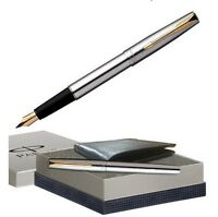 Parker Frontier Gift Set Fountain Pen, Ink Pen and Wallet Set, 100% Brand New