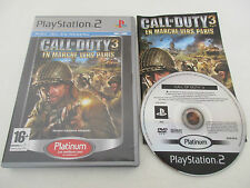 CALL OF DUTY 3 EN MARCHE VERS PARIS - SONY PLAYSTATION 2 - PS2 PLATINUM COMPLET