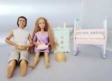 Mattel Happy Family Allan- Midge & Baby Barbie + accessories