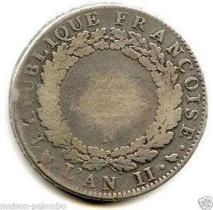 Convention Escudo De 6 Libros 1793 Montpellier Extremadamente Raro