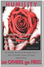 New Motivational Classroom Poster - Humility is Royalty without a Crown